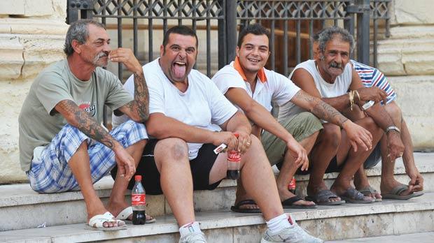 From left: Mario Schiavone, Anthony Cini, Gerson Orsini and Francis Debono and behind Stephen Debono. Photo: Chris Sant Fournier