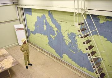 Two old maps found at WWII tunnels