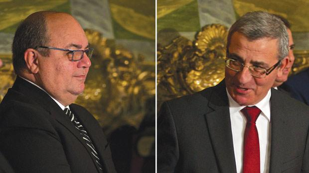 Lawyer Manuel Mallia will oversee a Home Affairs Ministry that includes justice and broadcasting remits. Right: The Education and Employment Ministry will be led by Evarist Bartolo.