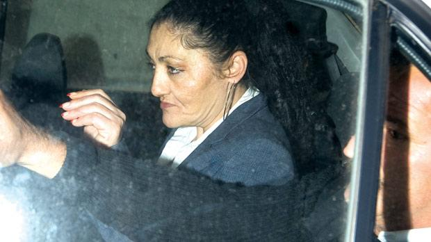 The queen of prison being driven back to her palace after sentencing. Photo: Darrin Zammit Lupi