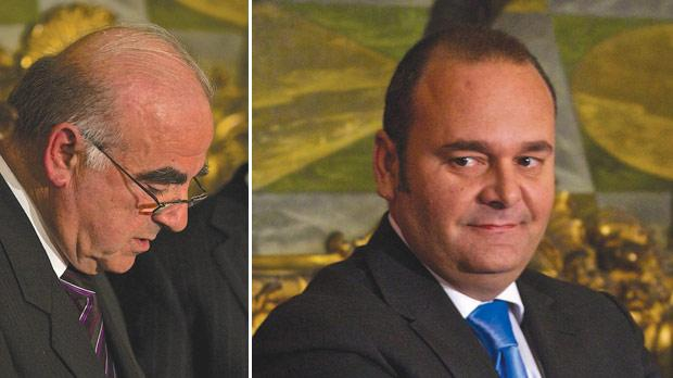George Vella will once again serve as Foreign Minister. Right: Lawyer Chris Cardona is Minister for the Economy, Investment and Small Business.