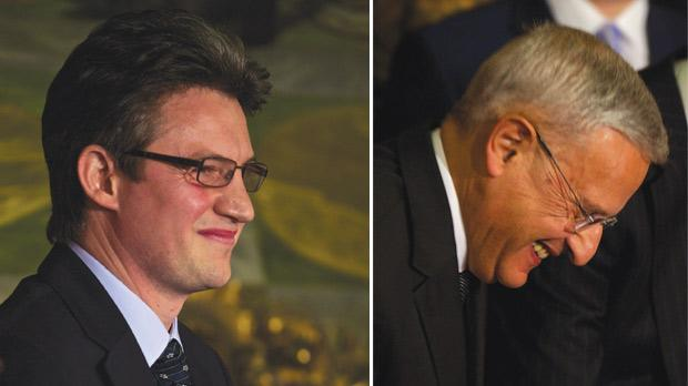 Konrad Mizzi will be responsible for energy and water-related issues as Energy Minister. Right: Leo Brincat, who served as Environment spokesman while in Opposition, is now Environment and Climate Change Minister.