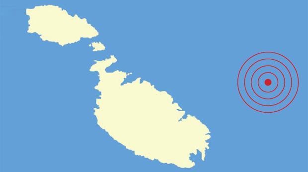 The earthquake occurred 37 kilometres east of Malta, at a depth of 7.1 kilometres.