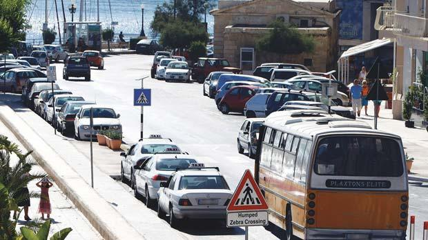 The parking spaces on the left – in front of Hotel Fortina down to the Ferries in Sliema – will be lost to make way for a bus lane.