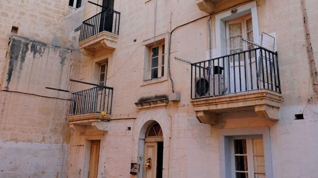 Josette Bickle's apartment block in Valletta. Photos: Chris Sant Fournier