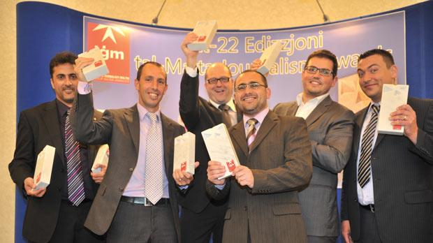 From left: Andrew Azzopardi, Matthew Mirabelli, Kevin Azzopardi, Kurt Sansone, Christian Peregin and Alan Deidun.
