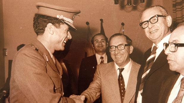 Meeting Gaddafi in 1973.