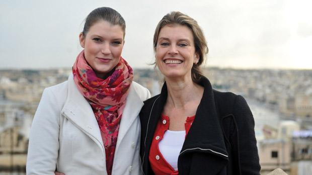 Désireé von la Valette Saint Georges and her niece Nastassja at Luciano Valletta Boutique Hotel. Photo: Chris Sant Fournier