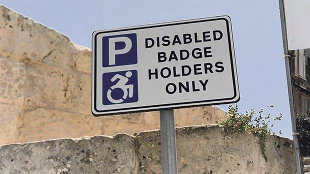 Blue badge abusers will be liable to a fine of at least €230 and have their car towed. Photo: Steve Zammit Lupi