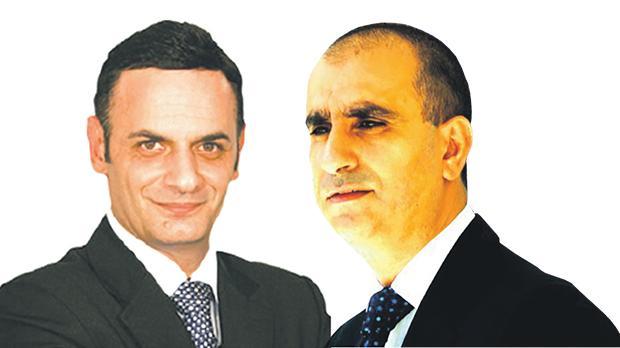 David Casa. Right: Pierre Portelli.