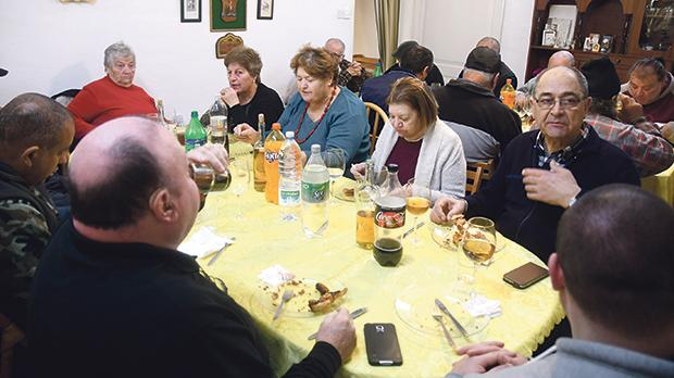 The Mġarr community gathers annually to celebrate New Year's Day. Photo: Jonathan Borg