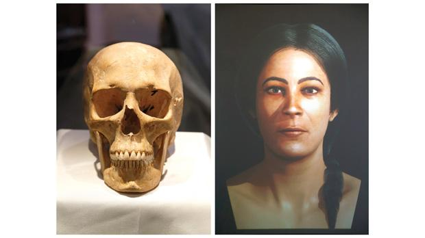 A 3D virtual reconstruction of a woman's face based on one of the prehistoric skulls found at the Xagħra Stone Circle. Photos: Darrin Zammit Lupi