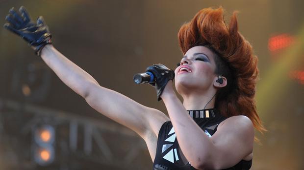 Dutch singer Eva Simons.