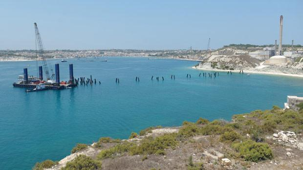 Works on the Delimara gas power station are in progress. Photo: Matthew Mirabelli
