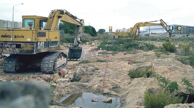 Excavation works at the site in Wesgħa tal-Ġganti, Mosta.