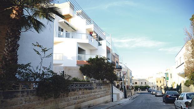 The flats on the corner of Triq San Franġisk and Triq San Gabriel in Balzan. Photo: Jonathan Borg