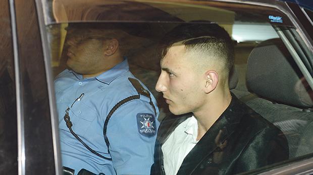 Liam Debono, 17, arriving at court yesterday. Photo: Matthew Mirabelli