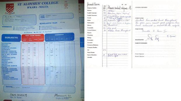 Two of the many school reports posted on the social media yesterday.