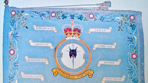 The No. 13 PR Squadron standard.