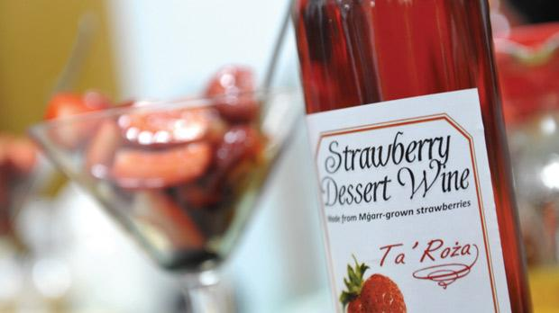 What better way to end a meal than strawberry dessert wine.
