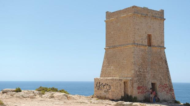 The 380-year-old Għajn Tuffieħa watchtower fell victim to a vandal attack earlier this week. Photo: Matthew Mirabelli