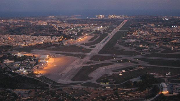 Runway lights seen flickering at airport malta international airports runway was closed for almost two hours during the blackout mozeypictures Gallery