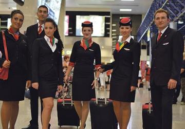 A file photo of an Air Malta flight crew