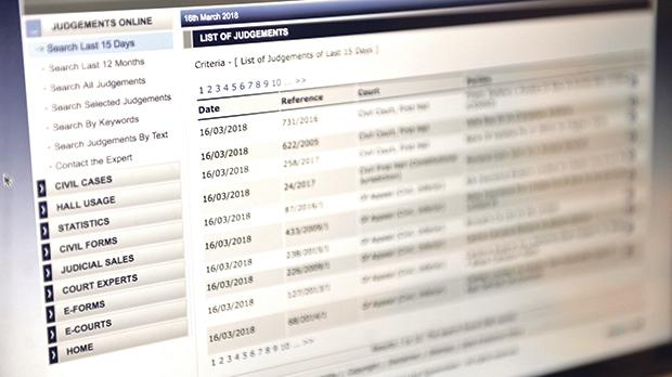 22 judgments removed from court's online database