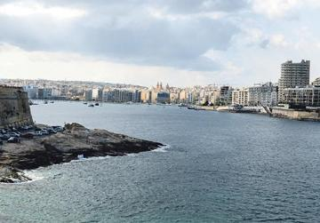 The stretch of sea between Sliema and Valletta has occasionally inspired dreamers to propose ways of bridging the two localities. It was a cable car in the 1960s and a footbridge in 2017. Photo: Jonathan Borg