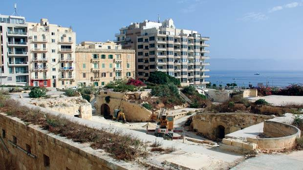 Works are under way to restore Fort Cambridge in Sliema, which is similar to Fort Rinella in Kalkara. Photo: Paul Spiteri Lucas