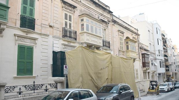 This 150-year-old townhouse in Cathedral Street, Sliema, is earmarked for demolition. Photo: Mark Zammit Cordina
