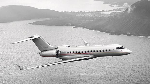 VistaJet's Bombardier Global 6000 in flight. Photo: VistaJet