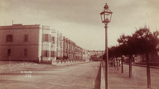 Tower Road, Sliema, before the advance of the appartment blocks.