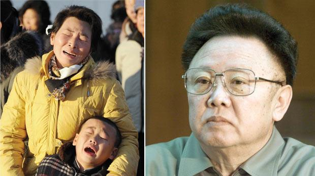 Right: North Korean Leader Kim Jong Il in March of 2001.