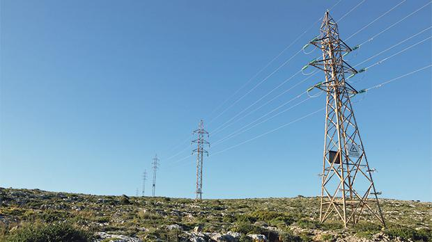 The longest stretch of pylons with overhead 33kV lines still in use in the country is in Mellieħa.