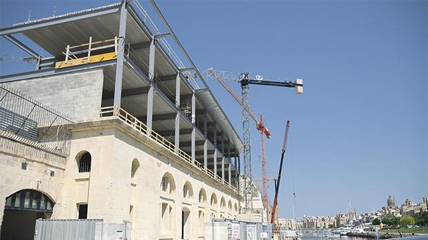 The AUM campus at Dock 1 in Cospicua is meant to start classes on Monday. Photo: Jonathan Borg