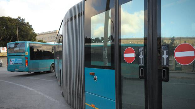 The disabled rear doors on an Arriva bendy bus. Photo: Matthew Mirabelli