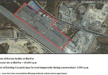 The proposed logistics hub would cover an area of over 45,000 square metres, partly over the current groupage complex at Ħal Far.