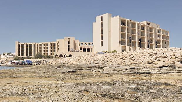 The abandoned Jerma Palace Hotel in Marsascala. Photo: Chris Sant Fournier
