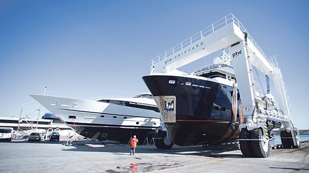 The shipyard in Tarragona, Spain