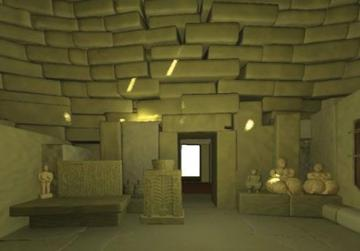 How the inside of the temple would have looked, according to Suzanne Psaila's model.