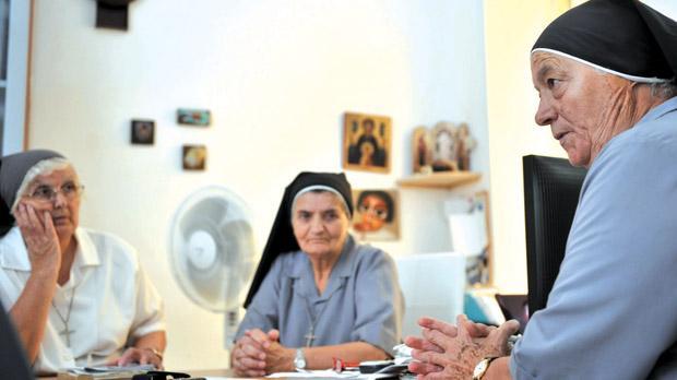 Sisters of Charity Sr Salvina Bezzina (left), Sr Tarcisia Vella and Sr Adele Baldacchino. Photo: Jason Borg