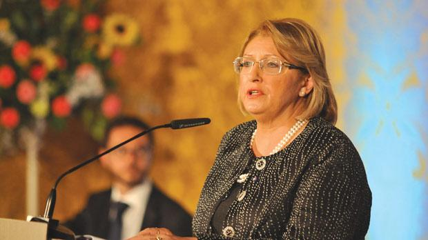 President Marie-Louise Coleiro Preca at the launch of her Foundation for the Well-Being of Society. Photo: Chris Sant Fournier