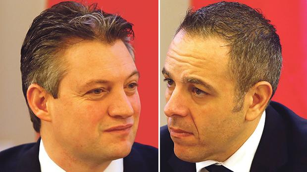 Konrad Mizzi (left) and Keith Schembri