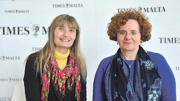 Prof. Suzanne Piscopo and Dr Clarissa Sammut Scerri. Photo: Chris Sant Fournier