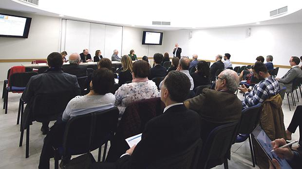 Those present for the meeting on media pluralism at the University yesterday. Photo: Philip Agius