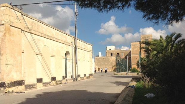 The Ħal Far compound where the Chinese man lived.