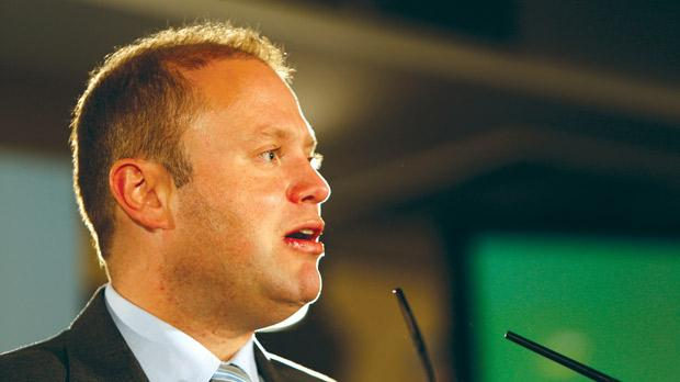 Joseph Muscat brushed off criticism about any blame for Malta's credit rating downgrade. Photo: Darrin Zammit Lupi