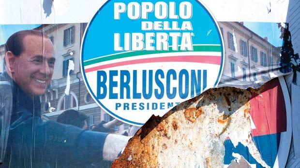 People of Freedom (PDL) party electoral posters in Rome yesterday. Photo: Max Rossi /Reuters