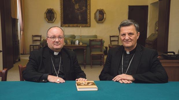 Archbishop Charles Scicluna and Gozo Bishop Mario Grech.